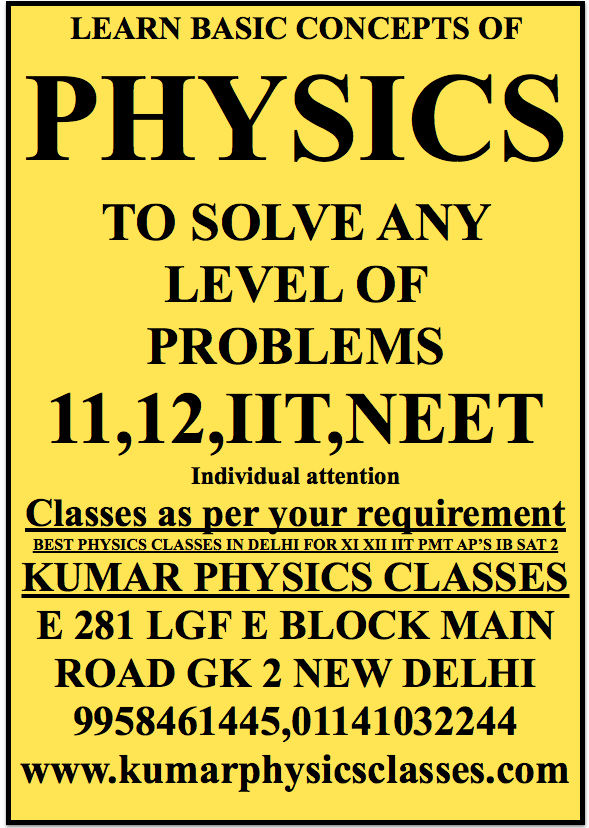LEARN BASIC CONCEPTS OF PHYSICS TO SOLVE ANY LEVEL OF